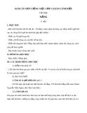 Giáo án môn Tiếng Việt lớp 1 sách Cánh Diều - Bài tập đọc: Nắng