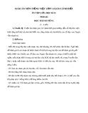 Giáo án môn Tiếng Việt lớp 1 sách Cánh Diều - Bài ôn tập giữa học kì 2