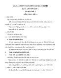 Giáo án môn Toán lớp 1 sách Cánh Diều - Bài 10: Lớn hơn - Dấu >, bé hơn - dấu <, bằng nhau - dấu =