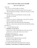 Giáo án môn Toán lớp 1 sách Cánh Diều - Bài 55: Em vui học Toán