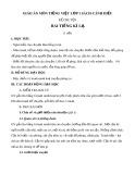 Giáo án môn Tiếng Việt lớp 1 sách Cánh Diều - Kể chuyện: Hai tiếng kì lạ