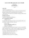 Giáo án môn Tiếng Việt lớp 1 sách Cánh Diều - Kể chuyện: Ba món quà