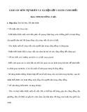 Giáo án môn Tự nhiên và xã hội lớp 1 sách Cánh Diều - Bài 6: Nơi em sống