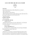 Giáo án môn Tiếng Việt lớp 1 sách Cánh Diều - Bài tập đọc: Ngoan