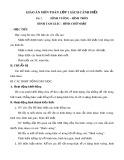 Giáo án môn Toán lớp 1 sách Cánh Diều - Bài 2: Hình vuông, hình tròn, hình tam giác, hình chữ nhật