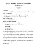Giáo án môn Tiếng Việt lớp 1 sách Cánh Diều - Bài ôn tập cuối năm