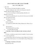 Giáo án môn Toán lớp 1 sách Cánh Diều - Bài 13: Em vui học Toán