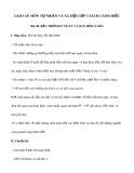 Giáo án môn Tự nhiên và xã hội lớp 1 sách Cánh Diều - Bài 20: Bầu trời ban ngày và ban đêm