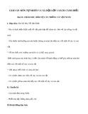 Giáo án môn Tự nhiên và xã hội lớp 1 sách Cánh Diều - Bài 12: Chăm sóc, bảo vệ cây trồng và vật nuôi