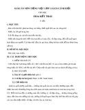 Giáo án môn Tiếng Việt lớp 1 sách Cánh Diều - Bài tập đọc Hoa kết trái