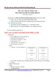 Bài tập môn học Phân tích thiết kế hệ thống thông tin