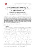 Ứng dụng phương pháp AHP, FAHP và GIS trong đánh giá sự thích hợp loài quế bản địa ở Trà Bồng, Quảng Ngãi