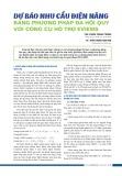 Dự báo nhu cầu điện năng bằng phương pháp đa hồi quy với công cụ hỗ trợ Eviews