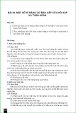 Bài giảng Bài 24: Một số kĩ năng cơ bản cấp cứu hô hấp và tuần hoàn