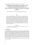 Combining transfer learning and case-based reasoning for an educational decision making support model