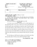 Đề thi học kì 1 môn Tiếng Việt lớp 2 năm 2019-2020 có đáp án - Trường Tiểu học Lộc Sơn 2