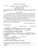 Đề thi giữa học kì 2 môn Tiếng Việt lớp 2 năm 2019-2020 - Trường Tiểu học Lê Quý Đôn