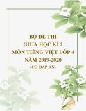 Bộ đề thi giữa học kì 2 môn Tiếng Việt lớp 4 năm 2019-2020 có đáp án