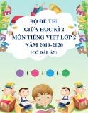 Bộ đề thi giữa học kì 2 môn Tiếng Việt lớp 2 năm 2019-2020 có đáp án