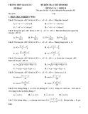 Đề kiểm tra 1 tiết Hình học lớp 10 chương 2-3 có đáp án - THPT Giai Xuân