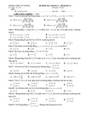 Đề kiểm tra 1 tiết Hình học lớp 10 chương 3 - THPT Cây Dương