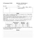 Đề kiểm tra 1 tiết học kì 2 môn Địa lớp 9 - THCS Yên Thịnh