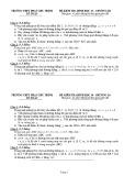 Đề kiểm tra 1 tiết Hình học lớp 10 chương 3 có đáp án - THPT Phan Chu Trinh
