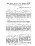 Đề xuất giải pháp xác định bộ tham số mới để tính chuyển tọa độ giữa hệ quy chiếu VN 2000 và WGS 84