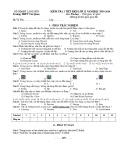 Đề kiểm tra 1 tiết học kì 2 môn Tin học lớp 12 năm 2019-2020 - THPT Văn Quan