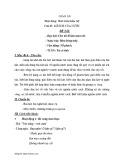 Giáo án Mầm non – Phát triển thẩm mỹ: Lợi ích của nước