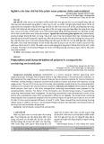 Nghiên cứu bào chế hệ tiểu phân nano polyme chứa metronidazol
