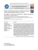 Sử dụng mô hình thực nghiệm để nghiên cứu các tính chất của bê tông chất lượng cao hạt mịn