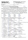 Đề kiểm tra 1 tiết học kì 2 môn Tiếng Anh lớp 12 năm 2019-2020 - THPT Nguyễn Thượng Hiền