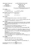 Đề thi vào lớp 10 môn Toán năm 2020-2021 - Sở GD&ĐT Vĩnh Long