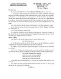 Đề thi thử vào lớp 10 THPT môn Ngữ văn năm 2020-2021 - Trường THCS Phúc Lợi (Lần 1)