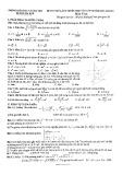 Đề thi thử vào lớp 10 THPT môn Toán năm 2020-2021 - Phòng GD&ĐT huyện Hải Hậu (Lần 1)
