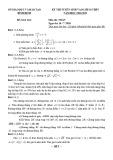 Đề thi vào lớp 10 môn Toán năm 2020-2021 - Sở GD&ĐT Bình Định