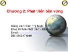 Bài giảng Kinh tế môi trường: Chương 2.1 - Đàm Thị Tuyết