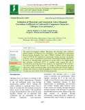 Estimation of phenotypic and genotypical (Above Diagonal) correlation coefficients in yield and its component characters chickpea (Cicer arietinum L.)