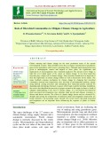 Role of microbial communities to mitigate climate change in agriculture