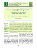 Phenotypic and genotypic path coefficient analysis studies in chickpea (Cicer arietinum L.)