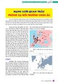 Mạng lưới quan trắc phóng xạ môi trường Châu Âu