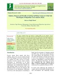 Opinion, reasons and benefits of joining self help groups in tribal sub plan region of rajasthan-an evaluative study