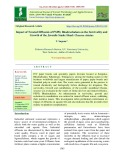 Impact of treated effluents of PSPD, bhadrachalam on the survivality and growth of the juvenile snake head: Channa striatus