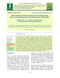 Effect of integrated nutrient management on nutrient uptake, physico-chemical properties of soil and economics of hybrid rice