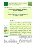 Effect of weather parameters on the development of post harvest rots of papaya