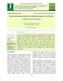 Study and development of barnyard millet based ready to eat product