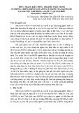 Thực trạng kiến thức, thái độ, thực hành về phòng chống bệnh cúm A/H5N1 ở người của người dân tại 3 huyện Nam Đông, A Lưới và Quảng Điền tỉnh Thừa Thiên Huế
