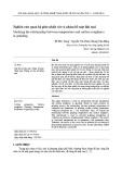 Nghiên cứu quan hệ giữa nhiệt cắt và nhám bề mặt khi mài