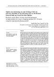 Nghiên cứu ảnh hưởng của một số thông số kết cấu trên máy băm/thái củ sắn tươi năng suất cao 10-20 tấn/h bằng mô hình quy hoạch hóa thực nghiệm